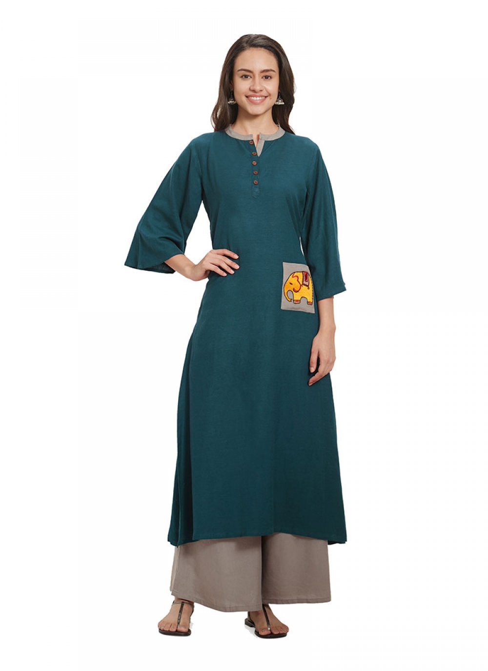 Plain Party Kurta