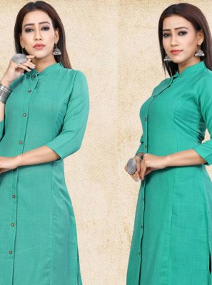 Plain Party Party Wear Kurti