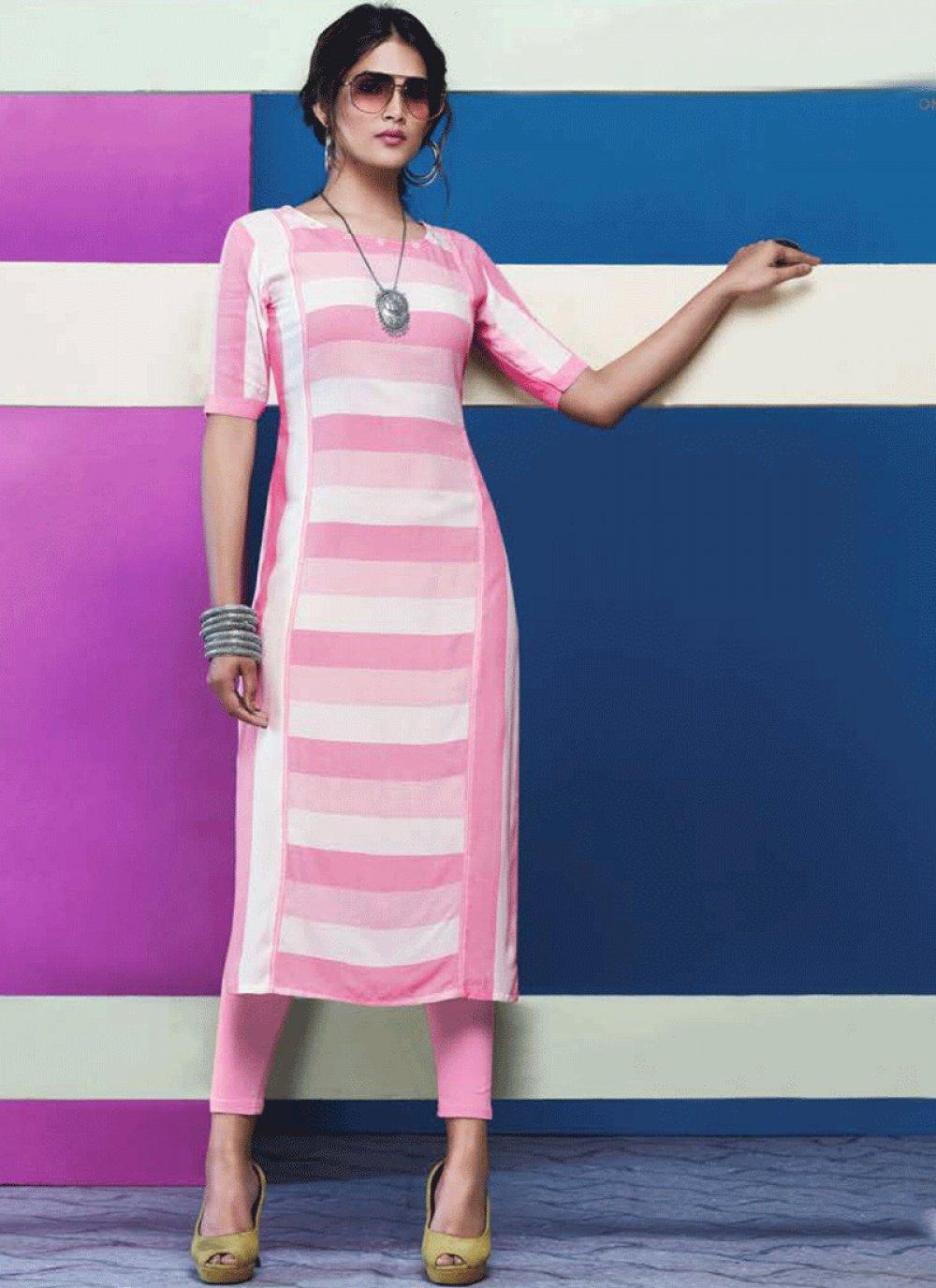 Plain Rayon Designer Kurti