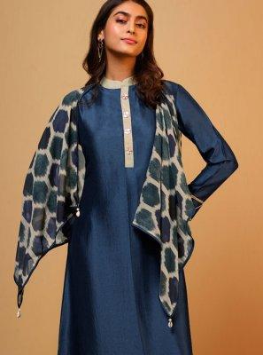 Plain Silk Designer Kurti