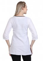 Plain White Casual Kurti