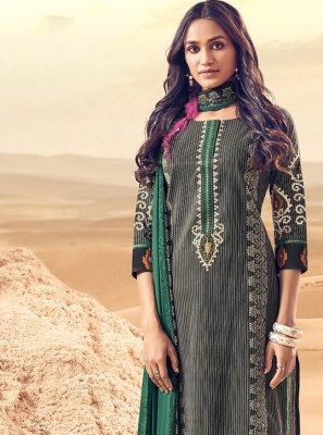 Polly Cotton Embroidered Salwar Kameez