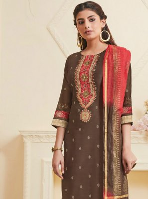 Polly Cotton Festival Churidar Salwar Suit