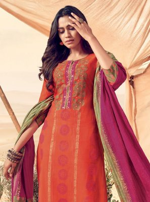 Polly Cotton Party Readymade Salwar Kameez