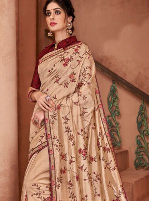 Poly Silk Ceremonial Silk Saree