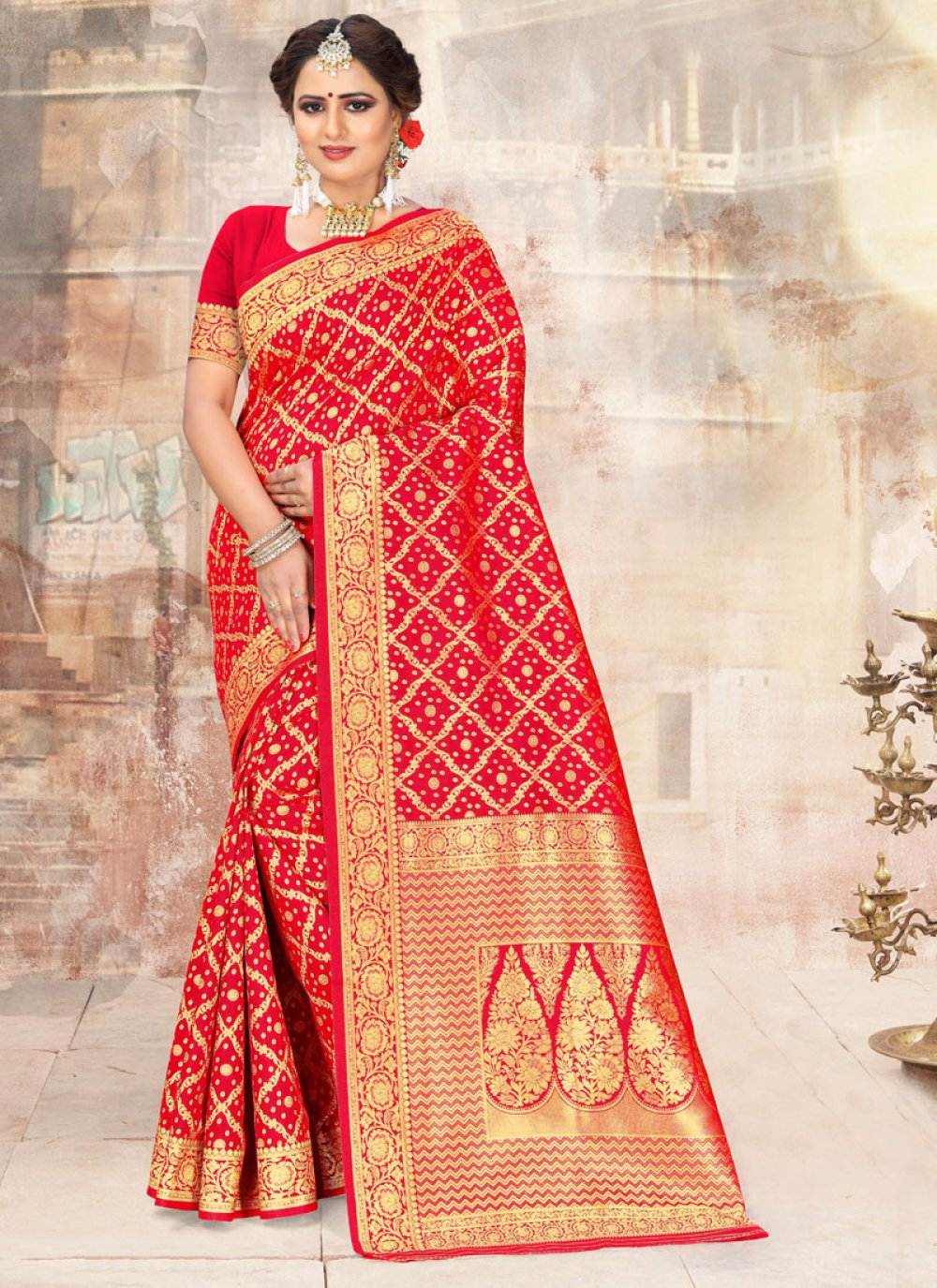 Poly Silk Embroidered Classic Saree