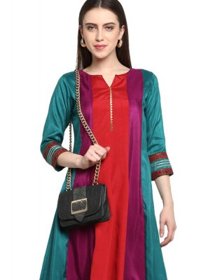 Poly Silk Festival Party Wear Kurti