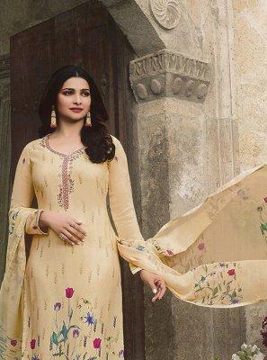Prachi Desai Cream Party Churidar Designer Suit