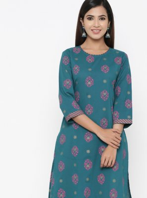 Print Cotton Casual Kurti
