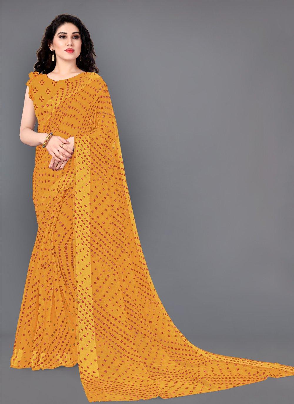 Print Cotton Designer Saree