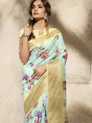 Print Cotton Printed Saree
