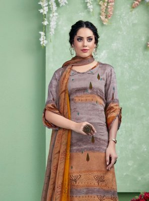 Print Multi Colour Cotton Palazzo Salwar Suit