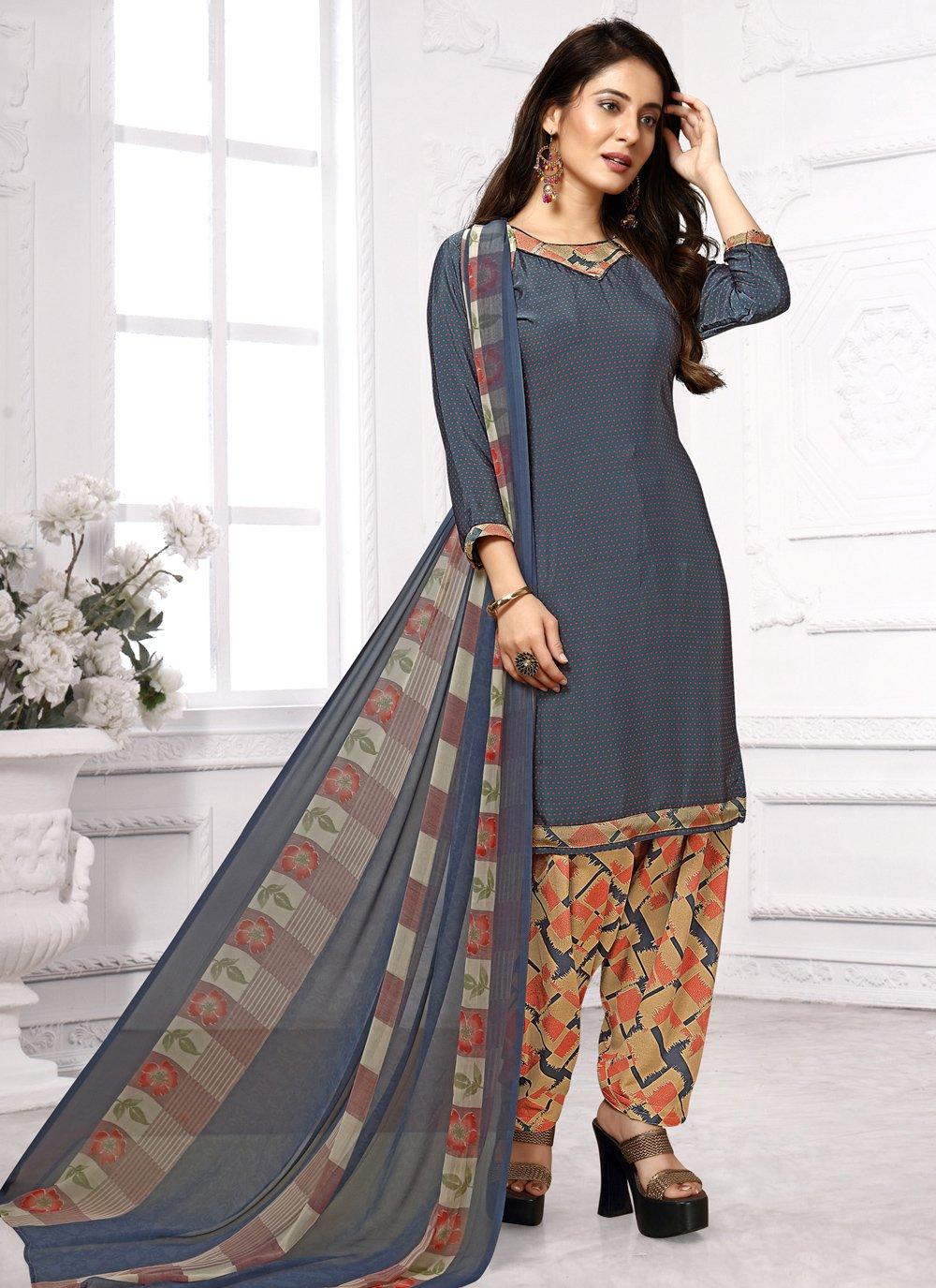 Print Multi Colour Designer Salwar Kameez