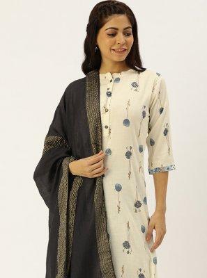 Print Rayon Trendy Straight Salwar Suit