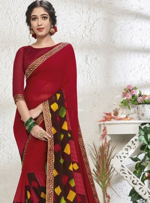 Print Sangeet Designer Saree