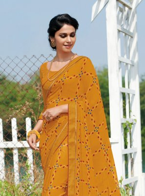 Printed Ameesha Patel Casual Saree