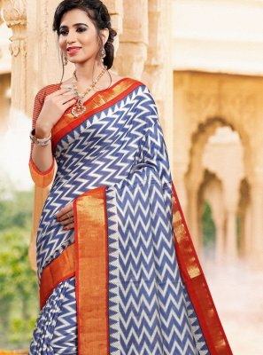 Printed Art Silk Casual Saree