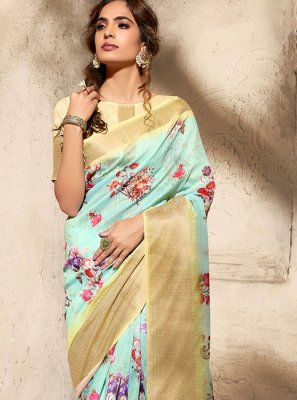 Printed Art Silk Classic Saree