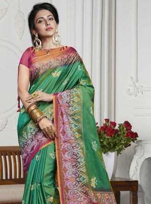 Printed Art Silk Contemporary Saree