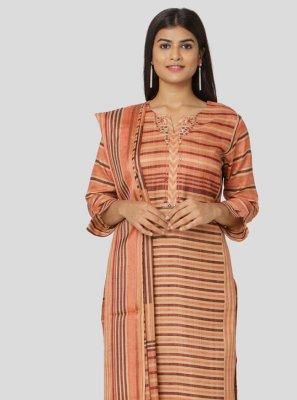 Printed Art Silk Multi Colour Salwar Suit