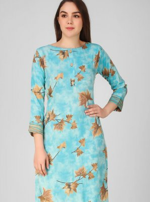 Printed Blue Salwar Suit