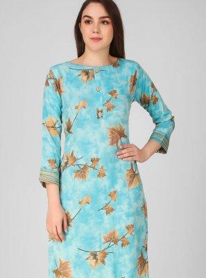 Printed Blue Salwar Suit