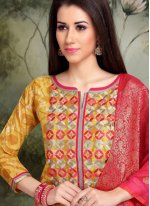Printed Casual Trendy Churidar Salwar Suit