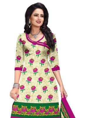 Printed Chinon Salwar Suit