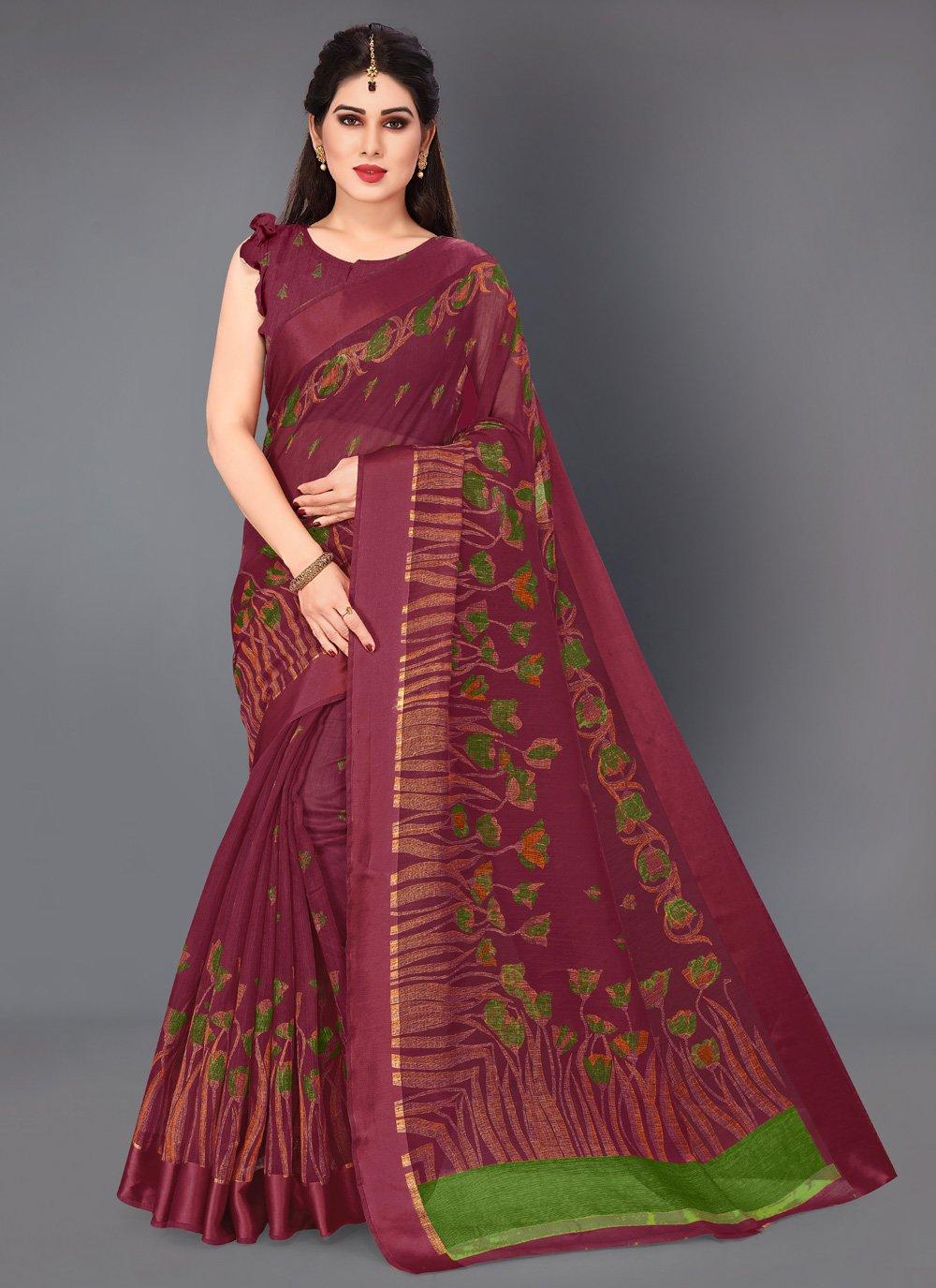 Printed Cotton Classic Saree