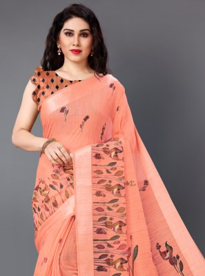 Printed Cotton Contemporary Saree