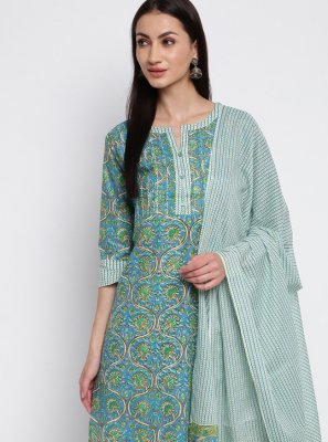Printed Cotton Multi Colour Trendy Salwar Kameez