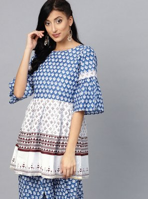 Printed Cotton Party Wear Kurti
