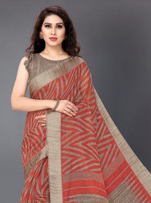 Printed Cotton Printed Saree