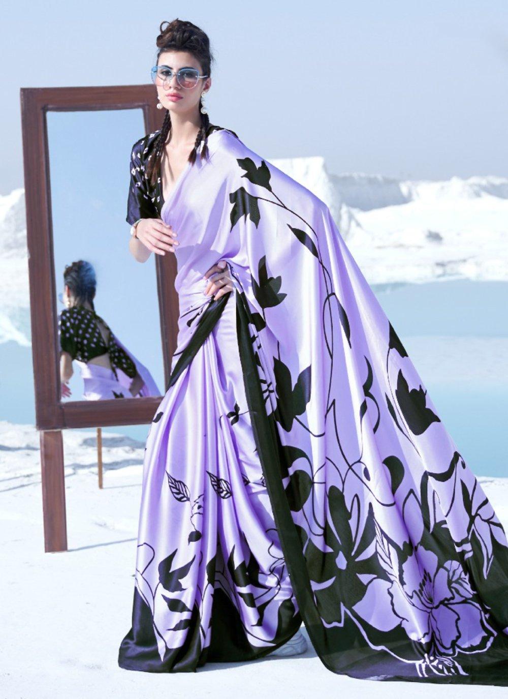 Printed Crepe Silk Trendy Saree