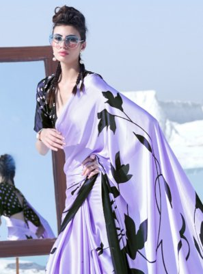 Printed Crepe Silk Trendy Saree