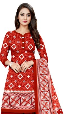 Printed Engagement Salwar Suit