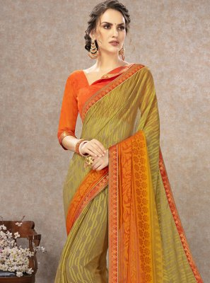 Printed Fancy Fabric Traditional Saree in Multi Colour