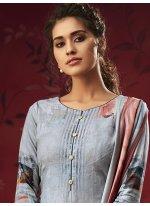 Printed Green Pashmina Salwar Suit