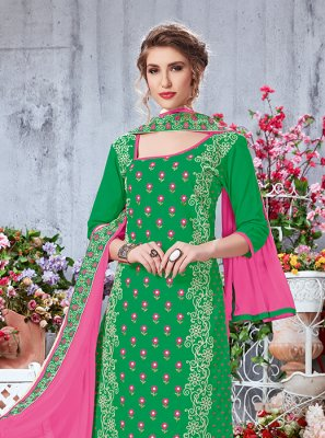 Printed Green Salwar Suit