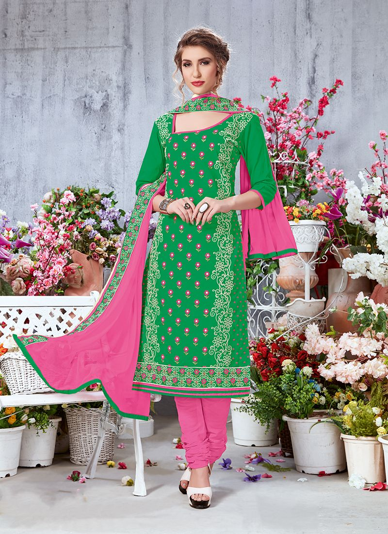 Printed Green Salwar Suit