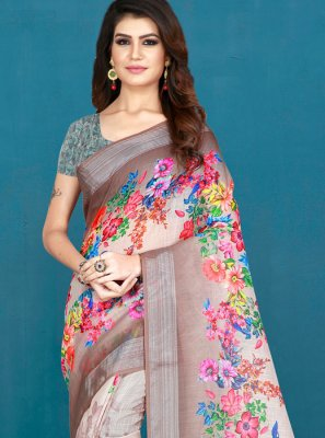 Printed Khadi Silk Printed Saree