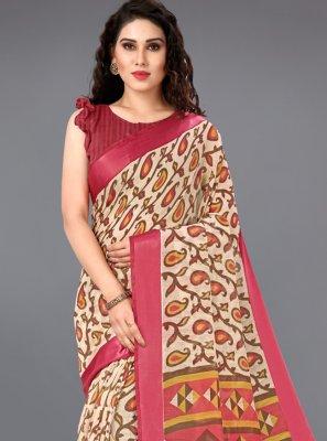 Printed Multi Colour Casual Saree