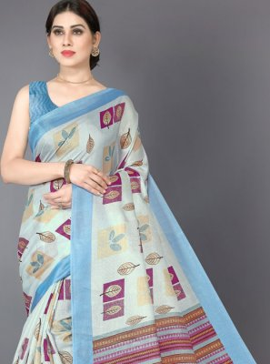 Printed Multi Colour Classic Saree