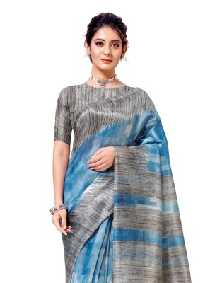 Printed Multi Colour Cotton Silk Casual Saree