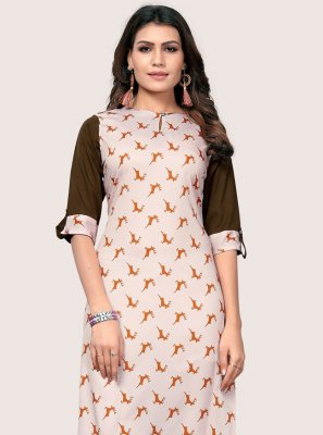Printed Multi Colour Party Wear Kurti