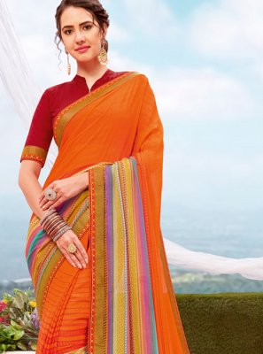 Printed Multi Colour Printed Saree