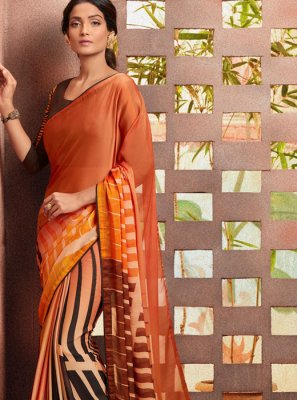 Printed Multi Colour Silk Casual Saree