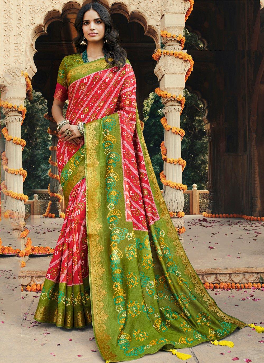 Printed Multi Colour Silk Trendy Saree