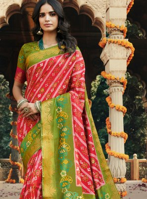Printed Multi Colour Silk Trendy Saree