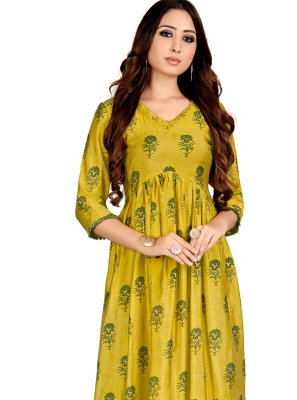 Printed Party Casual Kurti